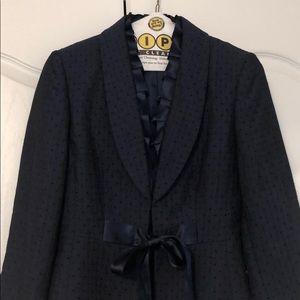 Navy Tahari ASL Luxe 3/4 sleeve jacket